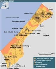 Gaza Map (from BBC)