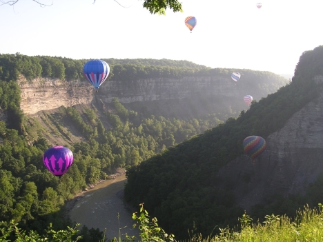Balloons Over Letchworth Gorge