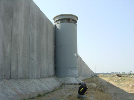 In Urban areas the barrier is a full-fledged concrete wall completely surrounding cities