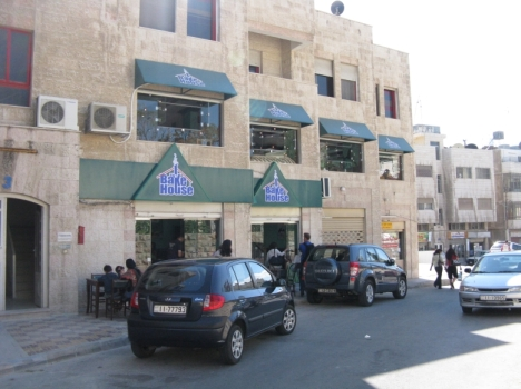 The Bake House in Jabal Amman, note the green awnings on the 2nd floor - all new expansion!
