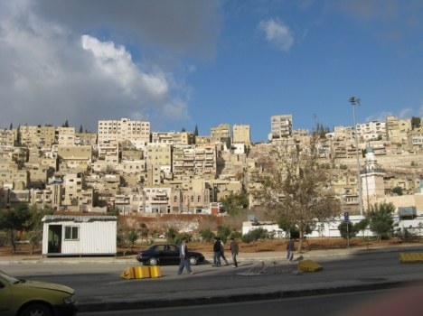 A nice day in Amman, despite clouds of war over Gaza