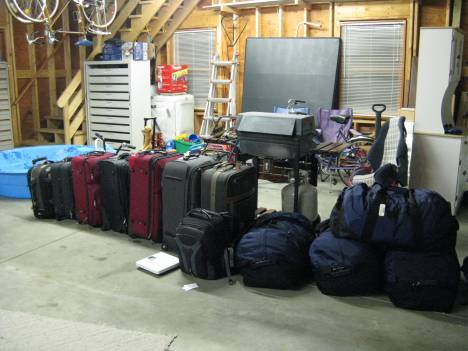 All packed and ready to go . . .