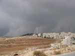 Dark skies towards the outskirts of Amman